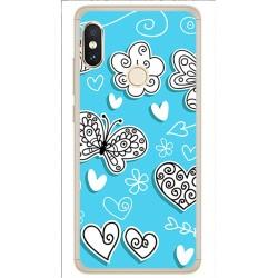 Funda Gel Tpu para Xiaomi Redmi Note 5 / Note 5 Pro Diseño Mariposas Dibujos