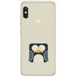 Funda Gel Tpu para Xiaomi Redmi Note 5 / Note 5 Pro Diseño Pingüino Dibujos