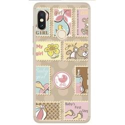 Funda Gel Tpu para Xiaomi Redmi Note 5 / Note 5 Pro Diseño Sellos Dibujos