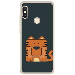 Funda Gel Tpu para Xiaomi Redmi Note 5 / Note 5 Pro Diseño Tigre Dibujos