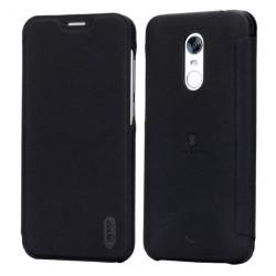 Funda Piel Flip Negra Marca Lenuo para Xiaomi Redmi 5 Plus