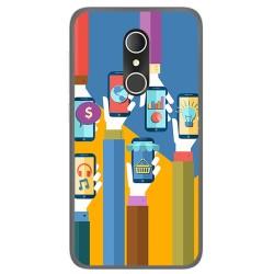 Funda Gel Tpu para Alcatel U5 3G Fp Diseño Apps Dibujos