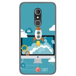 Funda Gel Tpu para Alcatel U5 3G Fp Diseño Cohete Dibujos