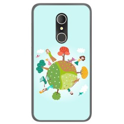 Funda Gel Tpu para Alcatel U5 3G Fp Diseño Familia Dibujos