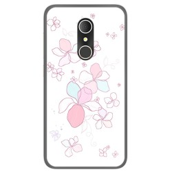 Funda Gel Tpu para Alcatel U5 3G Fp Diseño Flores Minimal Dibujos