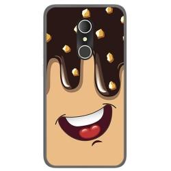 Funda Gel Tpu para Alcatel U5 3G Fp Diseño Helado Chocolate Dibujos