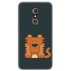 Funda Gel Tpu para Alcatel U5 3G Fp Diseño Tigre Dibujos