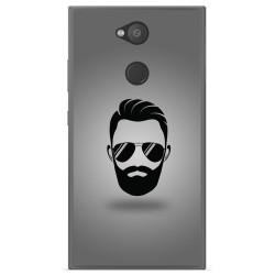 Funda Gel Tpu para Sony Xperia L2 Diseño Barba Dibujos