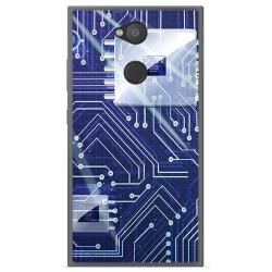 Funda Gel Tpu para Sony Xperia L2 Diseño Circuito Dibujos