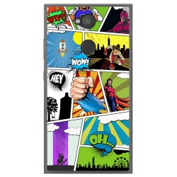 Funda Gel Tpu para Sony Xperia L2 Diseño Comic Dibujos