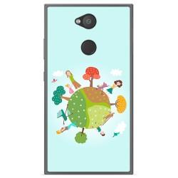 Funda Gel Tpu para Sony Xperia L2 Diseño Familia Dibujos