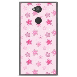 Funda Gel Tpu para Sony Xperia L2 Diseño Flores Dibujos
