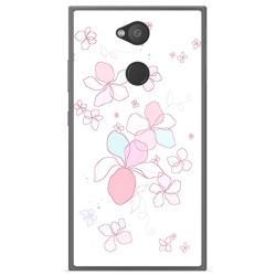 Funda Gel Tpu para Sony Xperia L2 Diseño Flores Minimal Dibujos
