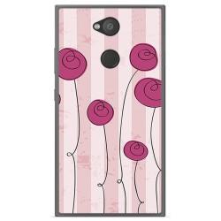 Funda Gel Tpu para Sony Xperia L2 Diseño Flores Vintage Dibujos