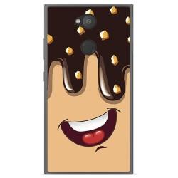 Funda Gel Tpu para Sony Xperia L2 Diseño Helado Chocolate Dibujos