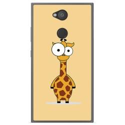 Funda Gel Tpu para Sony Xperia L2 Diseño Jirafa Dibujos