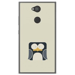 Funda Gel Tpu para Sony Xperia L2 Diseño Pingüino Dibujos