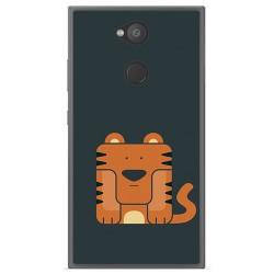 Funda Gel Tpu para Sony Xperia L2 Diseño Tigre Dibujos