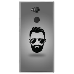 Funda Gel Tpu para Sony Xperia XA2 Diseño Barba Dibujos