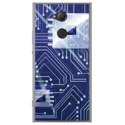 Funda Gel Tpu para Sony Xperia XA2 Diseño Circuito Dibujos