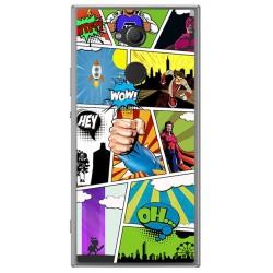 Funda Gel Tpu para Sony Xperia XA2 Diseño Comic Dibujos