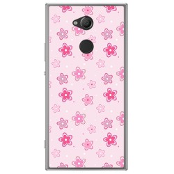 Funda Gel Tpu para Sony Xperia XA2 Diseño Flores Dibujos