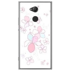 Funda Gel Tpu para Sony Xperia XA2 Diseño Flores Minimal Dibujos