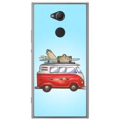 Funda Gel Tpu para Sony Xperia XA2 Diseño Furgoneta Dibujos