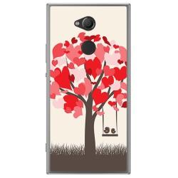 Funda Gel Tpu para Sony Xperia XA2 Diseño Pajaritos Dibujos