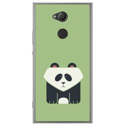 Funda Gel Tpu para Sony Xperia XA2 Diseño Panda Dibujos