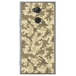 Funda Gel Tpu para Sony Xperia XA2 Diseño Sand Camuflaje Dibujos