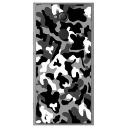 Funda Gel Tpu para Sony Xperia XA2 Diseño Snow Camuflaje Dibujos