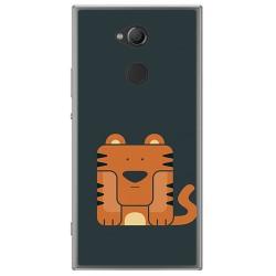 Funda Gel Tpu para Sony Xperia XA2 Diseño Tigre Dibujos