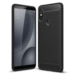 Funda Gel Tpu Tipo Carbon Negra para Xiaomi Redmi Note 5 / Note 5 Pro