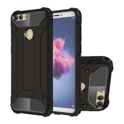 Funda Tipo Hybrid Tough Armor (Pc+Tpu) Negra para Huawei P Smart