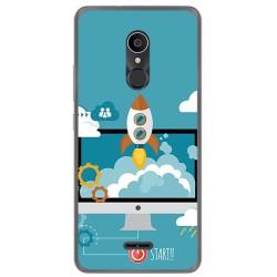 Funda Gel Tpu para Alcatel 3C Diseño Cohete Dibujos