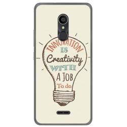 Funda Gel Tpu para Alcatel 3C Diseño Creativity Dibujos
