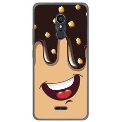Funda Gel Tpu para Alcatel 3C Diseño Helado Chocolate Dibujos