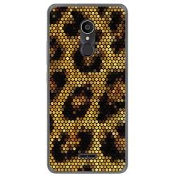 Funda Gel Tpu para Alcatel 3C Diseño Leopardo Dibujos