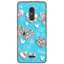Funda Gel Tpu para Alcatel 3C Diseño Mariposas Dibujos