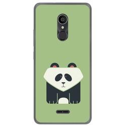 Funda Gel Tpu para Alcatel 3C Diseño Panda Dibujos