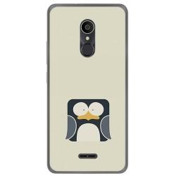 Funda Gel Tpu para Alcatel 3C Diseño Pingüino Dibujos