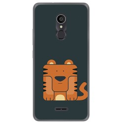 Funda Gel Tpu para Alcatel 3C Diseño Tigre Dibujos