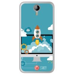 Funda Gel Tpu para Homtom HT3 Diseño Cohete Dibujos