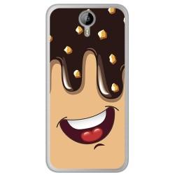 Funda Gel Tpu para Homtom HT3 Diseño Helado Chocolate Dibujos