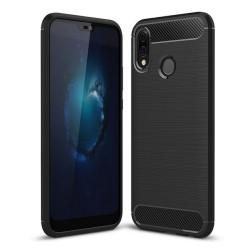 Funda Gel Tpu Tipo Carbon Negra para Huawei P20 Lite