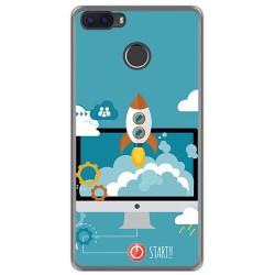Funda Gel Tpu para Cubot H3 Diseño Cohete Dibujos