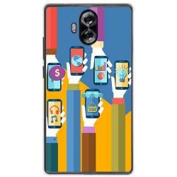 Funda Gel Tpu para Doogee Mix Lite Diseño Apps Dibujos
