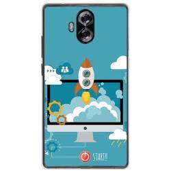 Funda Gel Tpu para Doogee Mix Lite Diseño Cohete Dibujos