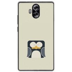 Funda Gel Tpu para Doogee Mix Lite Diseño Pingüino Dibujos